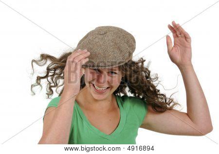 Teenage Girl In Ivy Cap