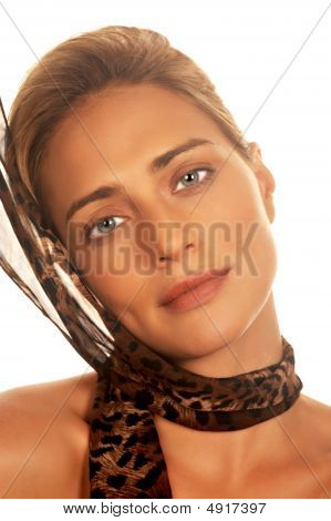 Young Lady With Scarf