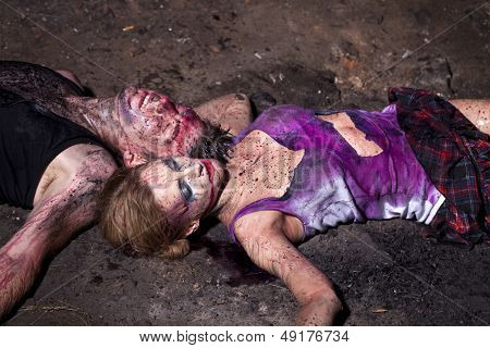 ???ouple of bloody victims