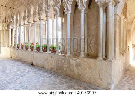 Architectural detail in Ravello, Amalfi Coast, Italy, Europe