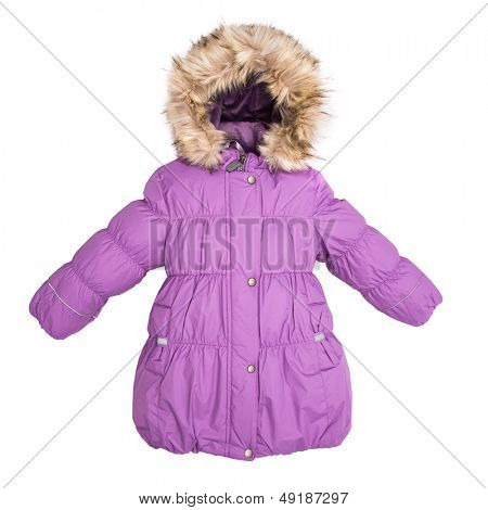 Women winter jacket isolated on white background. poster