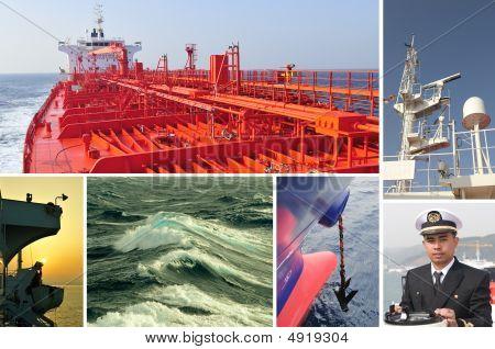 Marine Merchant Fleet Collage