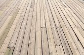 The Old Wooden Planks on Boat Deck poster