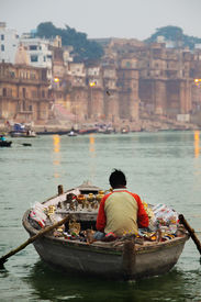 Boatman on the Ganges