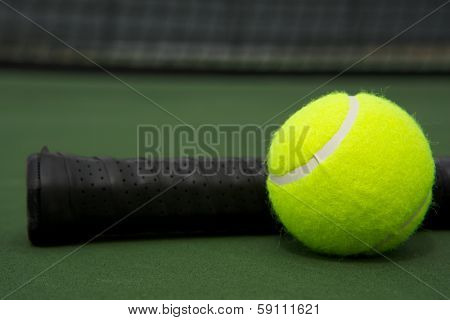 Tennis Ball and Racket Handle with room for copy