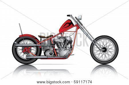 Red Custom Chopper