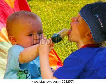 Brothers Sharing