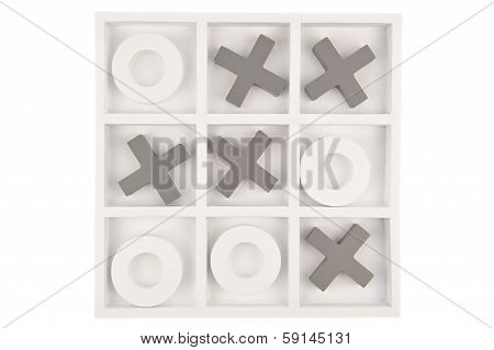 Gray White Game Board Isolated