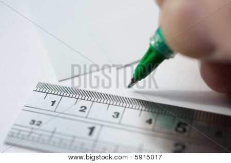 Hand Writing And Ruler