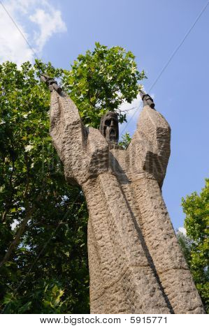 Saint Kliment Ohridski statue Sofia Bulgaria