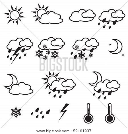 Weather Icons With White Background