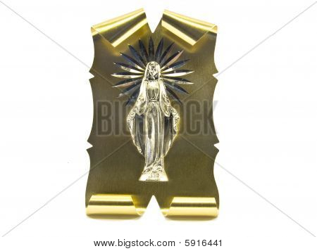 Golden palette with the Vergin Mary