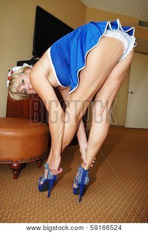 sailor girl in heels