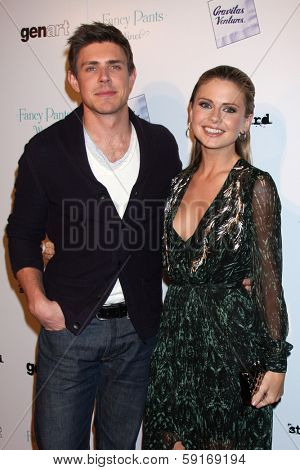 LOS ANGELES - JAN 28:  Chris Lowell, Rose McIver at the