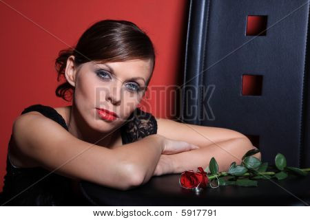 Sexy Women Red Background