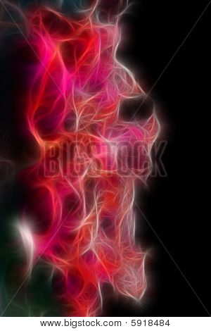 Abstract Microscopic Fractal Background