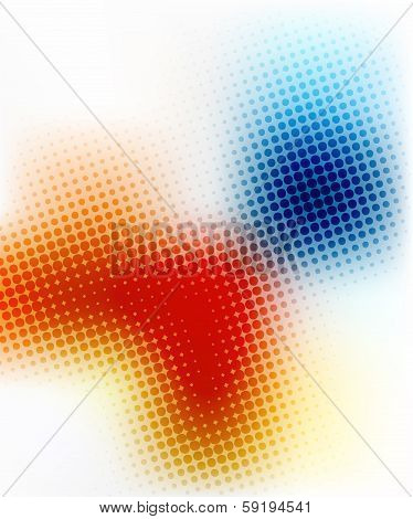 abstract yellow blue halftone background design stock vector