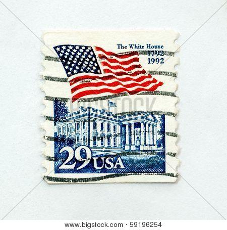 Vintage Us Postage Stamp, Isolated