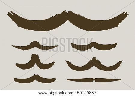 Brushed mustache collection