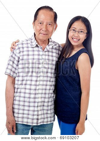 Grandfather With Teen Granddaughter