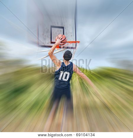 Dunking In A Blurred Court