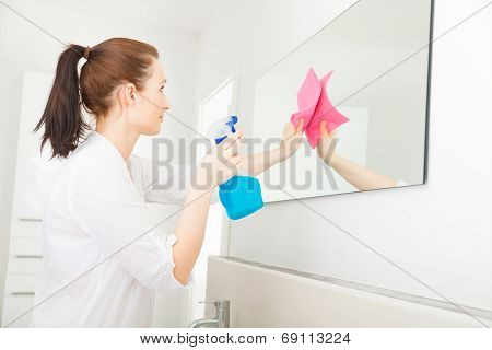 home related cleaning younger adult mother