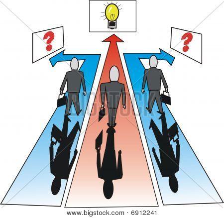 Business idea cartoon
