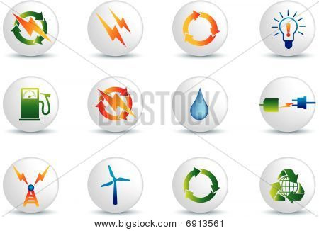 Electrical Power And Energy Icons