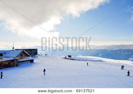 Skisport In Val Gardena, Dolomites, Italy