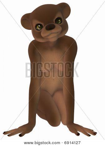 Cute Toon Figure - Brown Bear