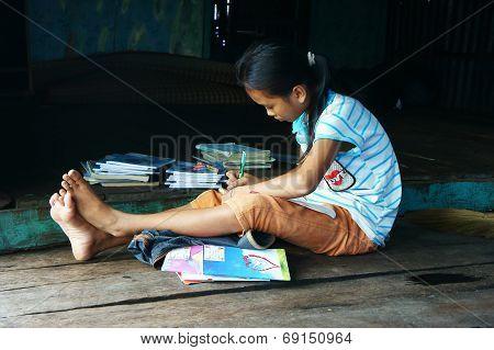 Children Learning On Floor