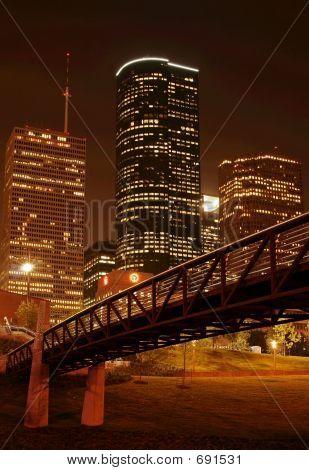 Bridge Over Night Skyline