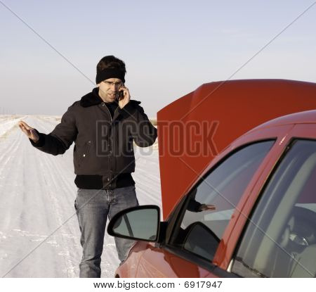 Stranded Car Winter