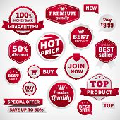 vector price offer banner labels set. Isolated from background. layered. poster
