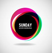 Good Morning  Sunday. Abstract background. Vector. Day of the week poster