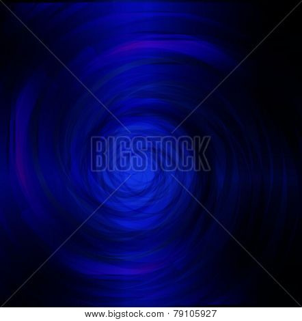 Blue spiral dark light
