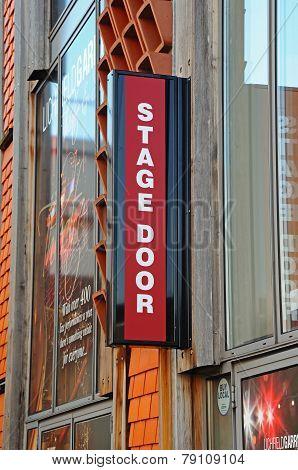Stage Door sign, Lichfield.