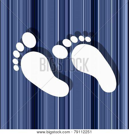 White Feet On Stripey Background