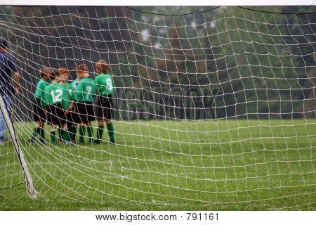 Soccer Team Beyond Net