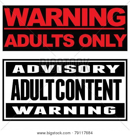 Adult Content Typographical Banners