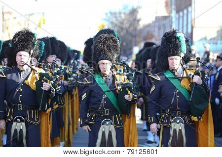 NYPD highland bagpipe band