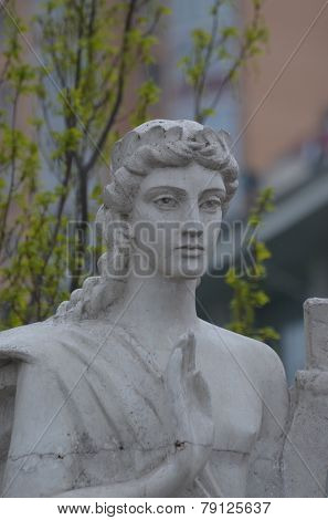 KIEV, UKRAINE -APR 21, 2014: Park decoration sculpture.Recreational area of Kiev.Infernal art .April 21, 2014 Kiev, Ukraine