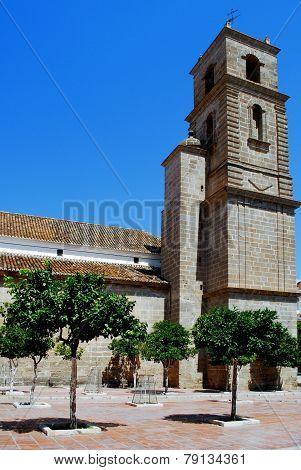 Our Lady of the Incarnation Parish Church (Parroquia Nuestra Senora de la Encarnacion) Alora Malaga Province Andalucia Spain Western Europe. poster