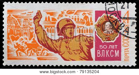 Soviet Officer With A Pistol