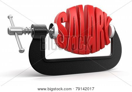 Salary in clamp (clipping path included)