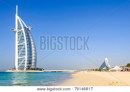 The Jumeirah Beach And Burj Al Arab Hotel in Dubai