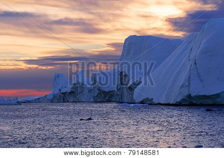 Sunset over the Icefjord, Greenland
