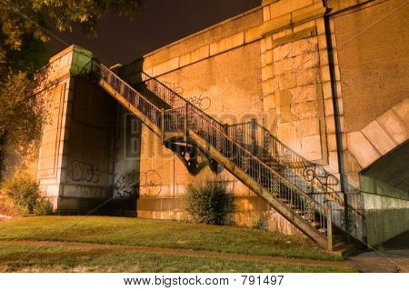 stairs from a bridge