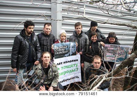 Action Of Ecologists In Support Of Suren Gazaryan