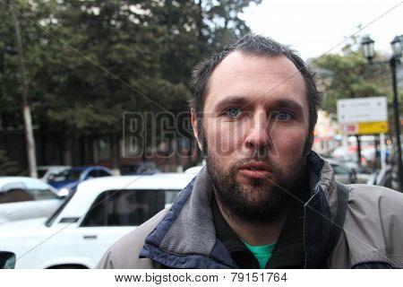 The ecologist Suren Gazaryan just left from under arrest